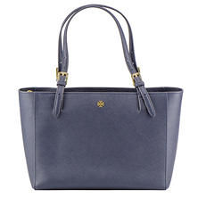 Women's Small York Leather Buckle Tote by Tory Burch