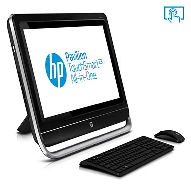"HP Pavilioin 23-f217c 23"" Touch Desktop Computer, AMD A8-5500, 8GB Memory, 1TB Hard Drive"