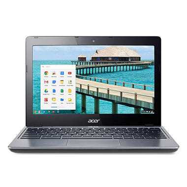 "Acer C720-2420 11.6"" Chromebook Laptop Computer, Intel Celeron 2955U, 2GB Memory, 32GB Hard Drive"