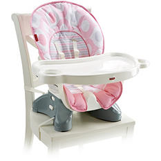 Fisher Price SpaceSaver High Chair, Pink Ellipse
