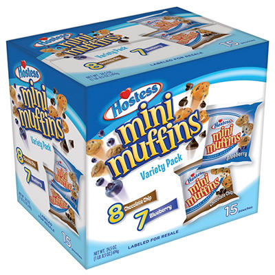 Hostess Mini Muffins, Variety Pack (15 ct.)