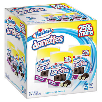 Hostess Chocolate Frosted Donuts (3 bag pack)