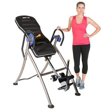 """Ironman iControl 600 Weight Extended Disk Brake System Inversion Table with """"Air Tech"""" Backrest"""