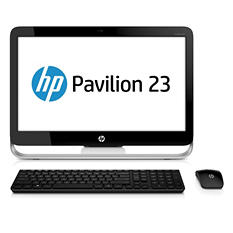 "HP Pavilion 23-g017c 23"" Desktop Computer, AMD A6-5200, 4GB Memory, 1TB Hard Drive*FREE UPGRADE TO WINDOWS 10"