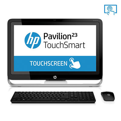 "HP Pavilion 23-H050 23"" Touch Desktop Computer, AMD A6-5200, 4GB Memory, 1TB Hard Drive"
