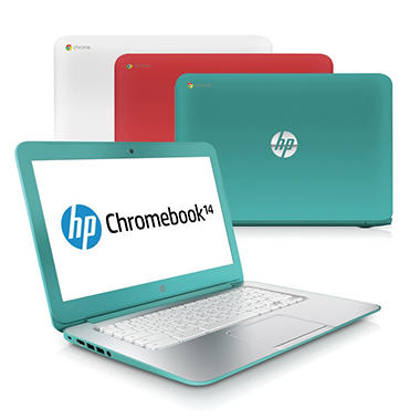 "HP Pavilion 14-Q010nr 14"" Chromebook Computer, Intel Celeron 2955U, 2GB Memory, 16GB Hard Drive - Various Colors"