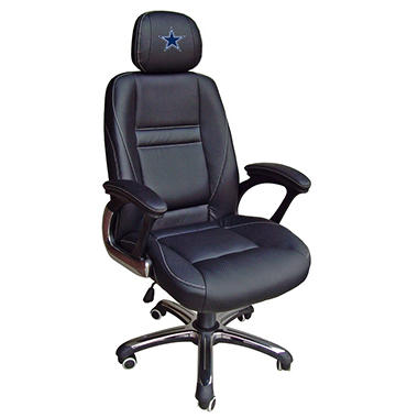 Dallas Cowboys Leather Office Chair