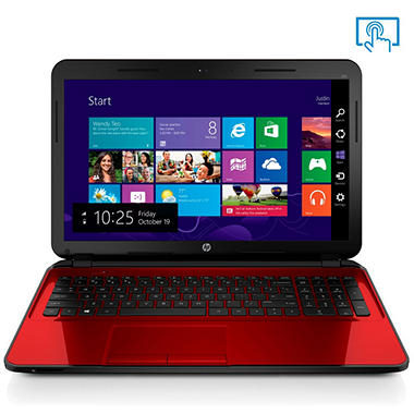"HP Touch-screen 15.6"" Laptop, AMD A8, 8GB Memory, 750GB Hard Drive with Optical Drive (Various Color Options)"