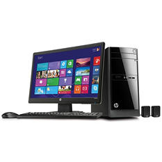 "HP 110-217cb 23"" Desktop Computer Bundle, Intel Pentium J2900, 4GB Memory, 1TB Hard Drive*FREE UPGRADE TO WINDOWS 10"