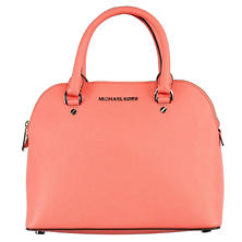 Cindy Dome Leather Satchel Handbag by Michael Kors (Assorted Colors)