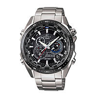 Men's Casio Edifice Solar Multi-Function Watch in Stainless Steel