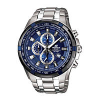 Men's Casio Edifice Tough Solar Stainless Steel Multi-Function Watch