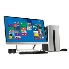 "HP Pavilion Desktop Bundle with 27"" Monitor, Wireless Keyboard & Mouse, Features: Intel Core i7-4790, 12 GB Memory, 1 TB Hard Drive*FREE UPGRADE TO WINDOWS 10"