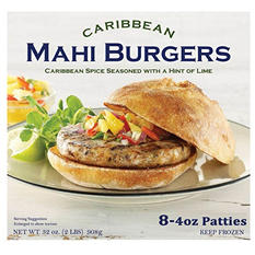 J. Scott Foods Caribbean Mahi Burger (4 oz. patties, 8 ct.)