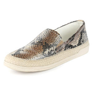 Ladies Faux Snake Skin Slip-On Casual Shoe