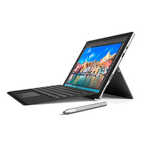Surface Pro 4 Bundle: Intel Core i7-6650U, 16GB Memory, 256GB SSD Hard Drive Device, Surface Pen, Surface Pro 4 Black Type Cover, Wireless Display Adapter, Windows 10 Pro and 1 Year Office 365 Personal Subscription
