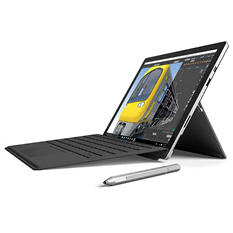 "Microsoft Surface Pro 4 i7 Bundle:  Touchscreen 12.3"" Device with Intel Core i7 Proessor, 8GB Memory, 256GB SSD Hard Drive, Surface Pen, Black Type Cover, Office 365 1yr"