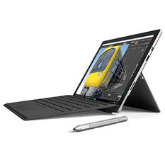 "Microsoft Surface Pro 4 i7 Bundle: 12.3"" Touchscreen with Intel Core i7 Processor, 16GB Memory, 256GB SSD Hard Drive, Surface Pen, Black Type Cover, Windows 10 Pro"