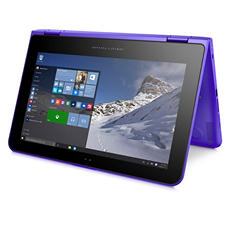 "HP Pavilion Convertible HD WLED Touchscreen 11.6"" Notebook 11-k164nr, Intel Celeron N3700, 4GB Memory, 500GB Hard Drive, Windows 10 - Various Colors: Violet Purple, Sunset Red, Minty Green"