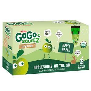 GoGo SqueeZ Organic Applesauce Pouches (3.2 oz. pouches, 16 ct.)