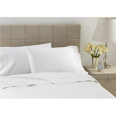 600TC Hotel Luxury Collection Solid White Sheet Set - Cal King
