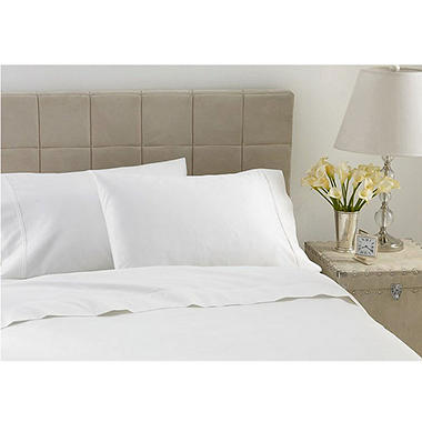 600TC Hotel Luxury Collection Solid Ivory Sheet Set - Cal King