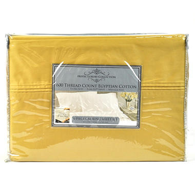 600TC Hotel Luxury Collection Solid Gold Sheet Set - Cal King