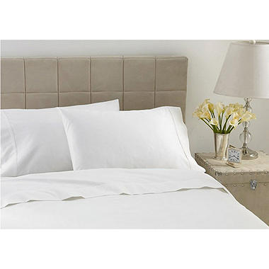 600TC Hotel Luxury Collection Striped White Sheet Set - Cal King