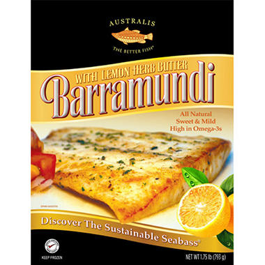 Australis Barramundi Seabass with Lemon Herb Butter - 1.75 lb