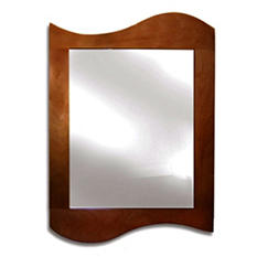 Room Magic Chocolate-Colored Kids' Wall Mirror