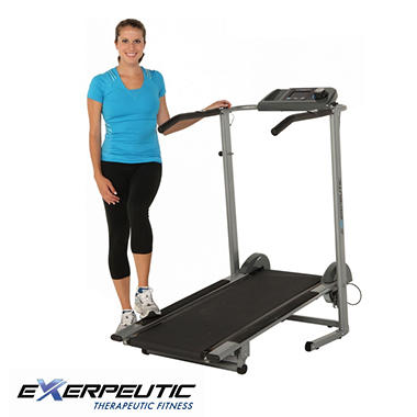 Exerpeutic 100XL Heavy Duty Magnetic Manual Treadmill with Pulse
