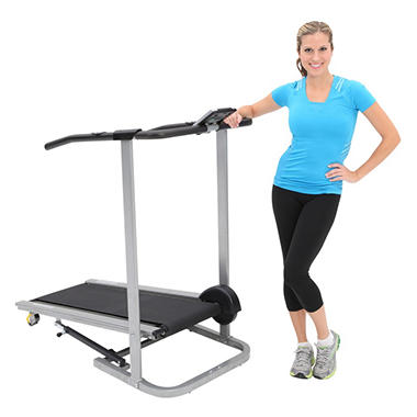 Exerpeutic 500 Manual Treadmill with Extended Safety Handles and Pulse
