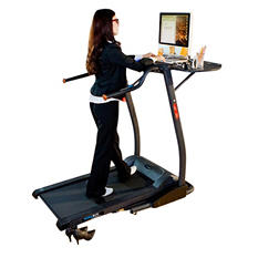 "Exerpeutic 2000 ""WorkFit"" High Capacity Desk Station Treadmill with Pulse"