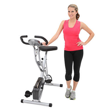 Exerpeutic 250XL Folding Magnetic Upright Bike with Pulse Monitoring