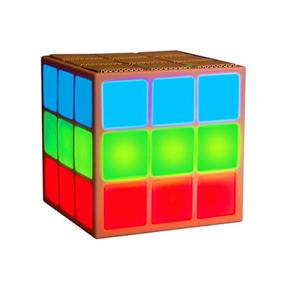 Mobi Cube Bluetooth Speaker with Light Show