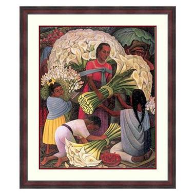 Custom Framed Artwork - The Flower Vendor