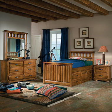 Ridgeland Bedroom Set - Twin Storage - 4 pc.