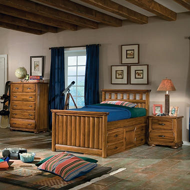 Ridgeland Bedroom Set - Twin Storage - 3 pc