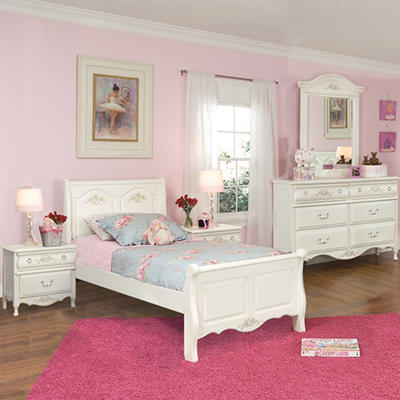 Rhyland Sleigh Bedroom Set - Twin - 4pc