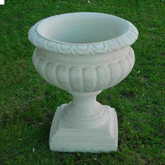 Large Cast Stone Fluted Urns - 2 pk.