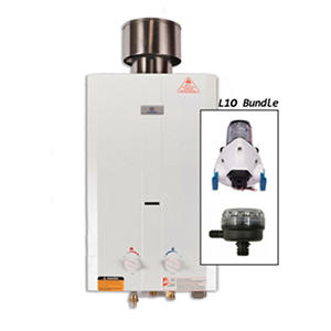 Eccotemp L10 Tankless Water Heater with Flojet Pump & Strainer