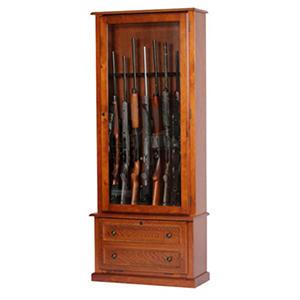 Glass Front 8-Gun Cabinet