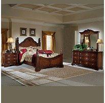 European Williamsburg Bed Nightstand Dresser Mirror