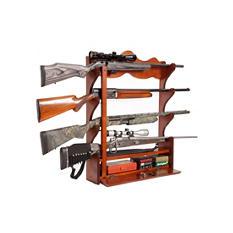 4 Gun Pine Wall Rack