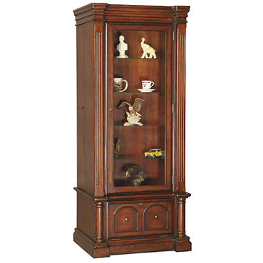 Curio with Concealed Sliding 8-Gun Cabinet