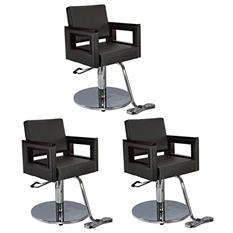Keller Modern Salon Styling Chairs Package - 3 ct.