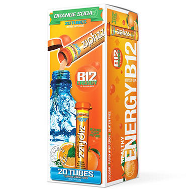 Zipfizz Energy/Sports Drink Mix - Orange Soda