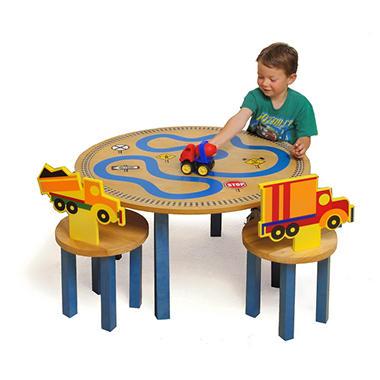 Boys Like Trucks Table and 2 Chair Activity Set