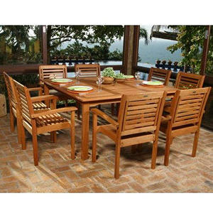 Lido Outdoor/Indoor Square Table Set - 9 pc.