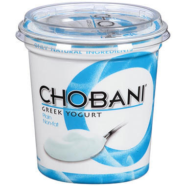Chobani Plain Non-Fat Greek Yogurt - 32 oz.